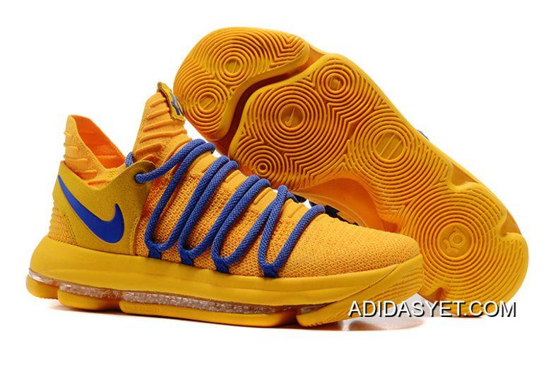 Best Nike KD 10 Warrior Yellow Blue