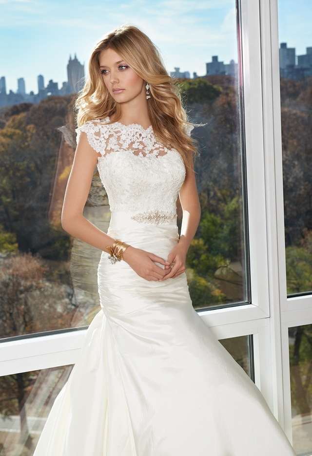 Illusion Lace Neck Dress From Camille La Vie And Group Usa Wedding Dresses Wedding Dresses Lace Wedding Dress Train
