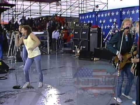 Foreigner Hot Blooded Live At Farm Aid 1985 Lou Gramm Foreign Singer