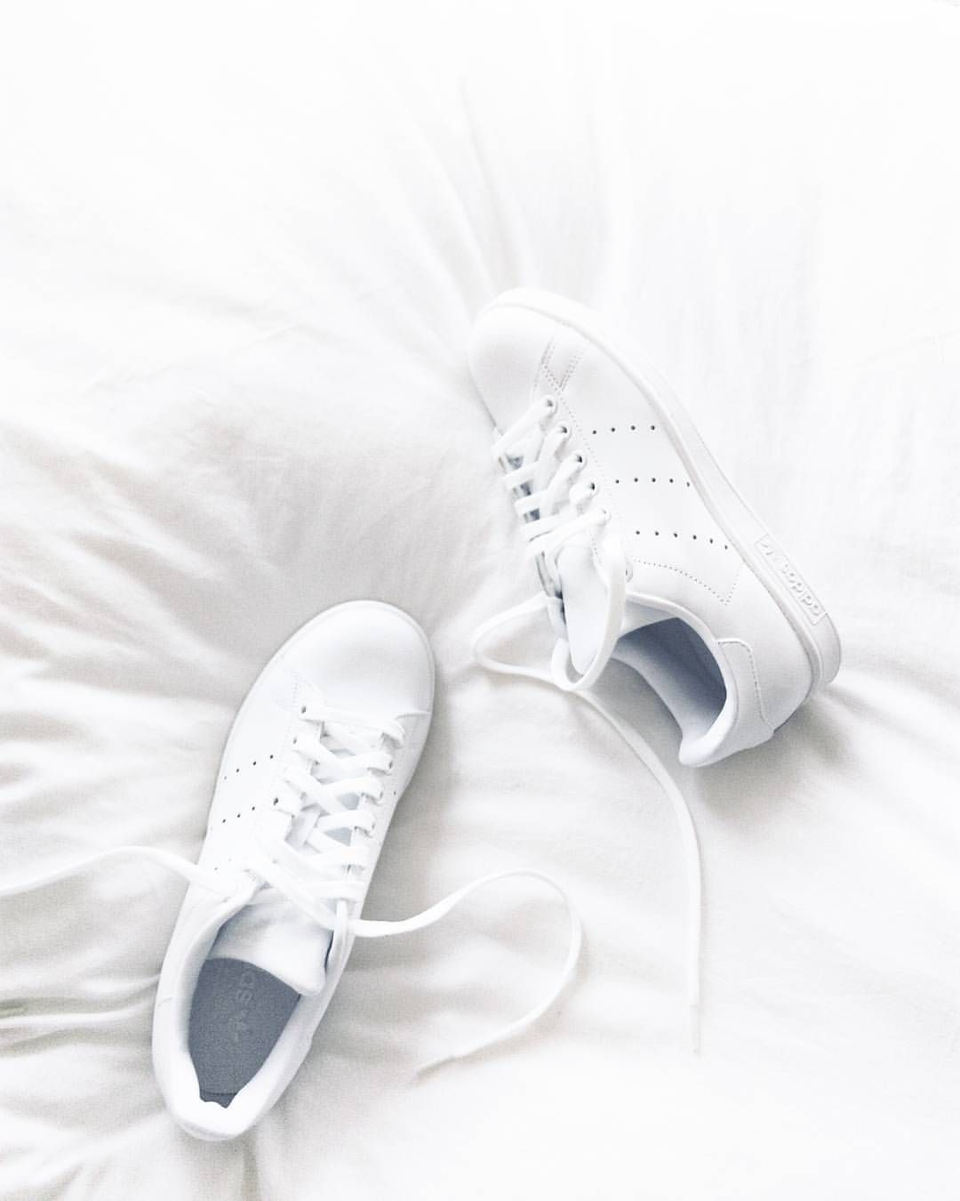 "3826ebf7ed2 Anna on Instagram  ""New in  all white Stan Smith  allwhitestansmith   whitesneakers"""