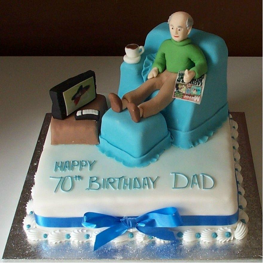 Loafing Man Sofa Novelty Birthday Cakes Nottingham Derby