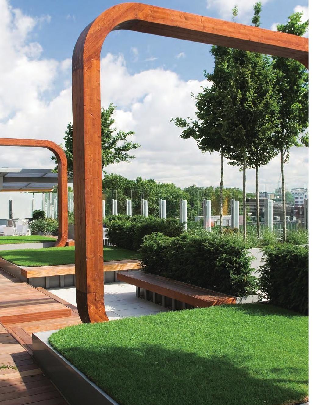 Roof Garden Landscape - World Landscape Case Studies #ClippedOnIssuu | Modern Garden Design, Roof Garden Design, Roof Garden