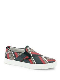 Gucci - Dublin Chevron Slip-On Sneakers