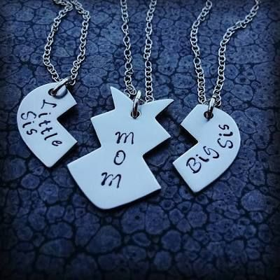 3 Piece Heart Necklace Mother ...