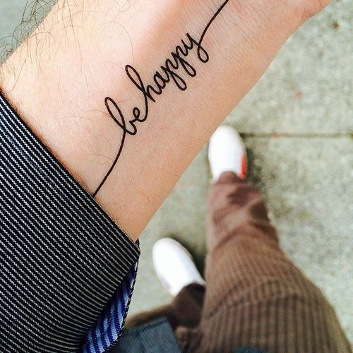 Don T Worry Be Happy Tattoo Google Search Happiness Tattoo Tattoo Quotes Short Quote Tattoos