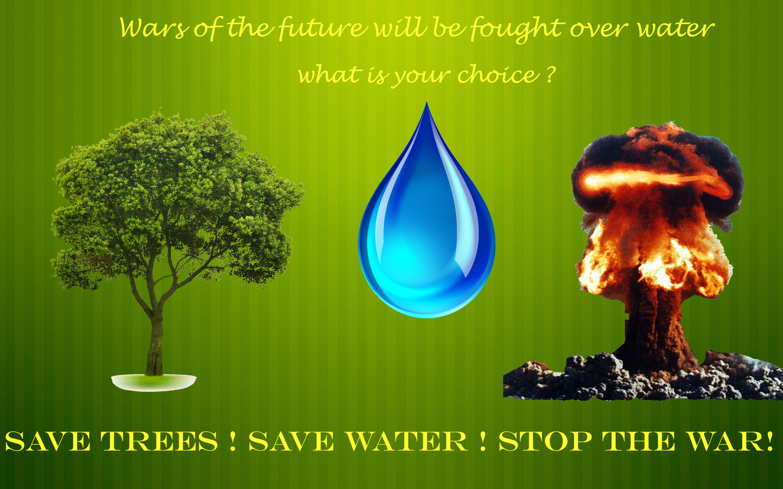 world water day mother earth earth day world save trees save water stop war