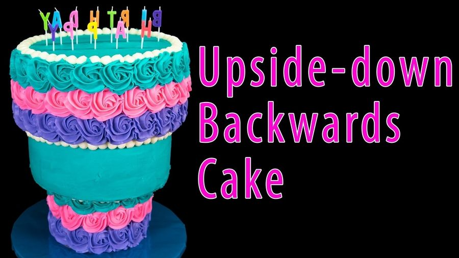 Learn To Make This Upside Down Wedding Cake Video By Cookies Cupcakes And Cardio Ingredi Cookies Cupcakes And Cardio Cake Decorating Tutorials Cupcake Cookies
