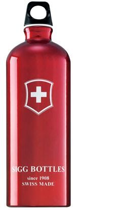 Water Botle Swiss Cross / 0.6 Liter. By a bottle for a hiking trip in the mountains or where ever you are.