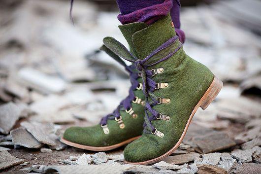 32750b3c8 Обувь ручной работы. Ярмарка Мастеров - ручная работа. Купить ...И ещё  зелёные. Handmade. Валяная обувь, женская обувь