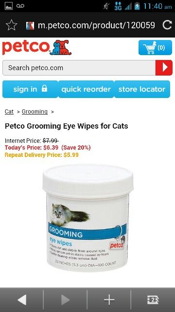 Petco Grooming Eye Wipes For Cats Petco Cat Grooming Internet Cats
