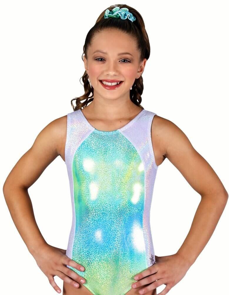 85d46eb95293 Kids Radiance Tank Gymnastics Leotard by Snowflake Designs in Green ...