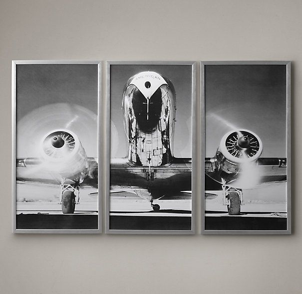 Airplane Triptych | Framed Artwork | Restoration Hardware | Langley ...