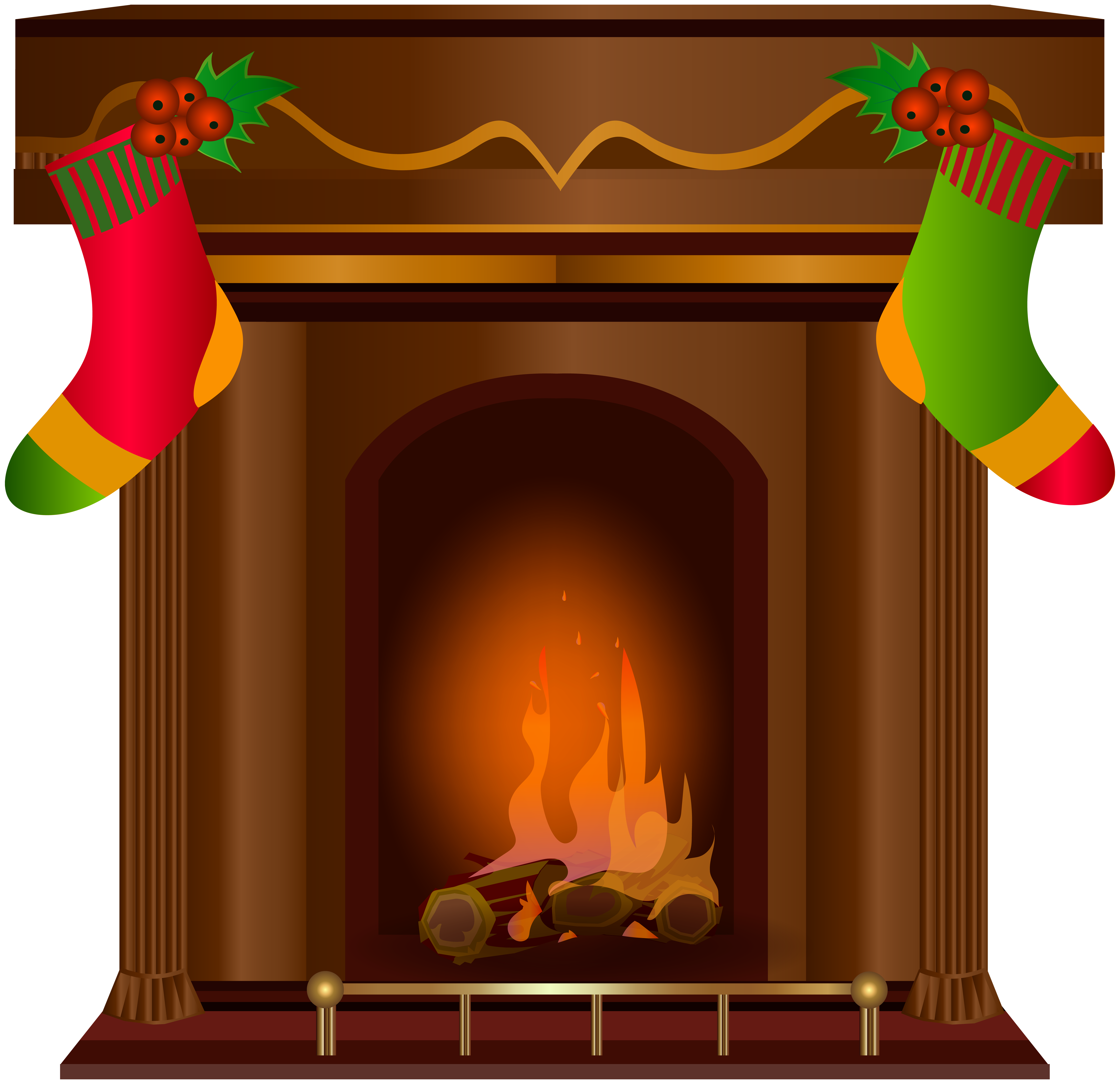 Awesome Transparent Christmas Fireplace Clipart 8000X7743 Clip Art Download Free Architecture Designs Scobabritishbridgeorg