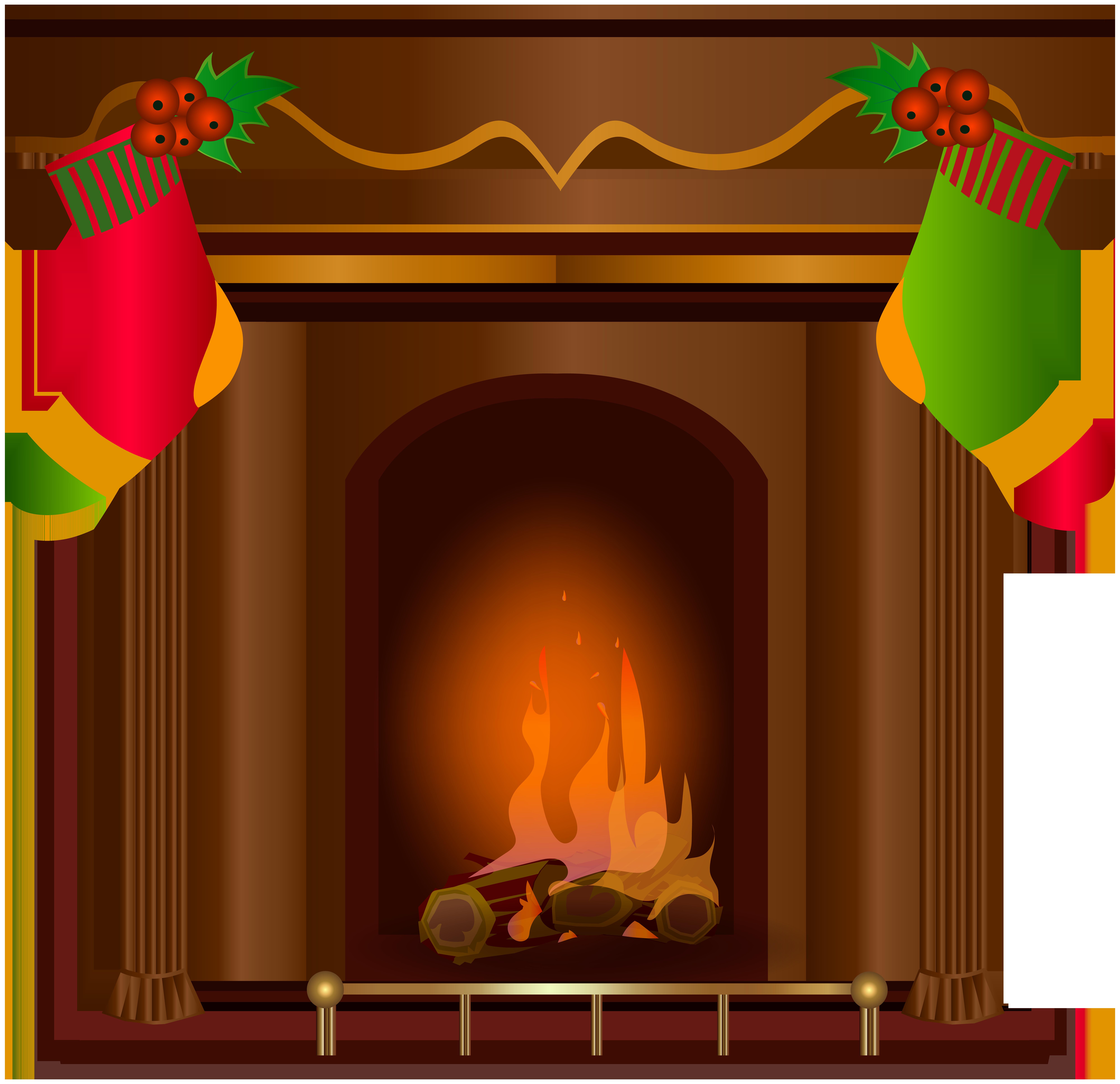 Fine Transparent Christmas Fireplace Clipart 8000X7743 Clip Art Home Interior And Landscaping Dextoversignezvosmurscom