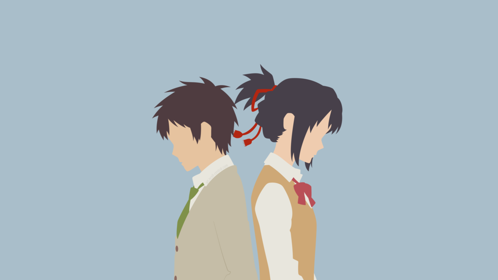 Mitsuha + Taki [1] (Your Name.) by ncoll36 on DeviantArt