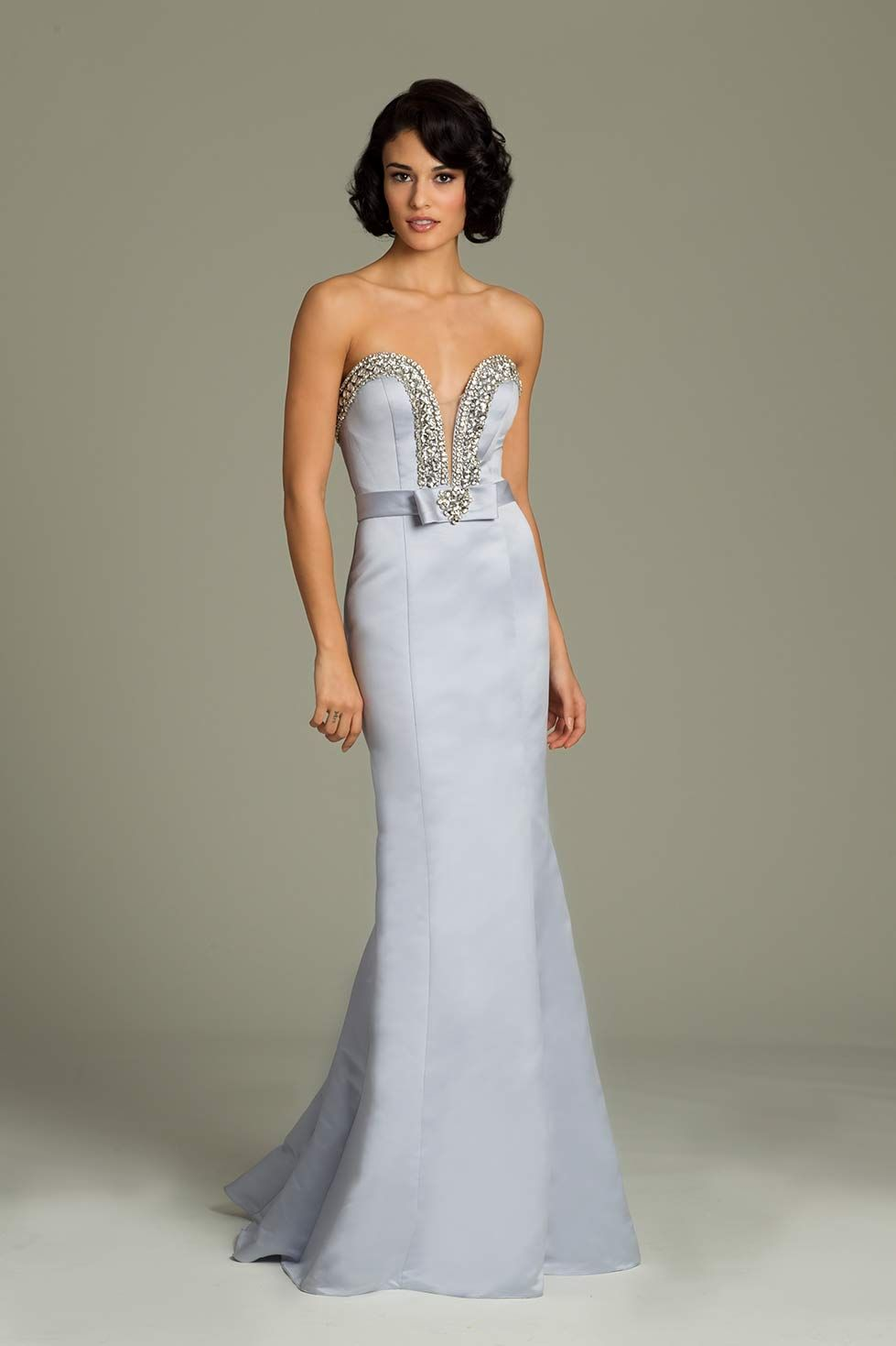 Strapless silk jovani mermaid gown prom pinterest mermaid gown