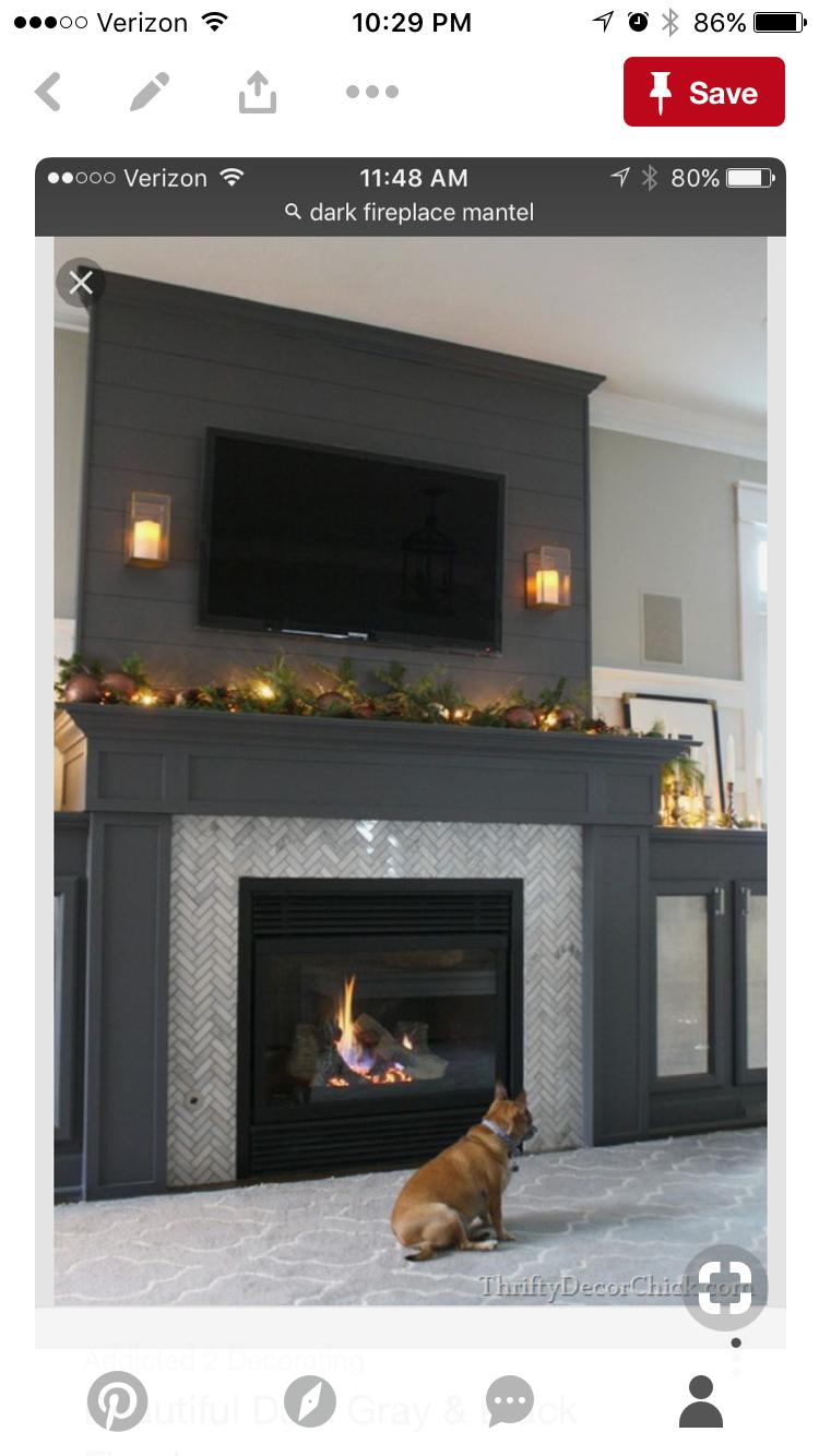 Dark Fireplace Light Tile Livingroomdesignswithtv