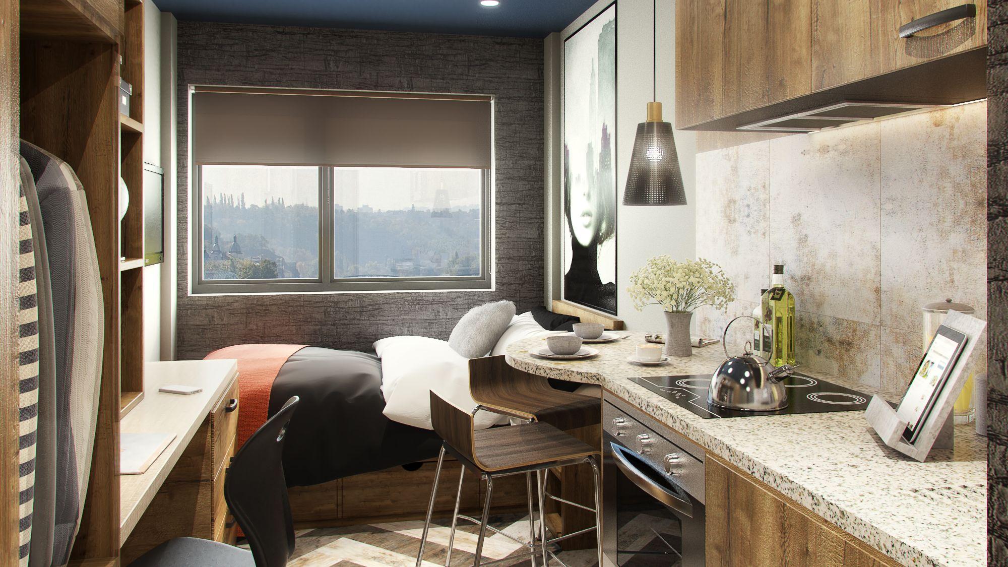 Compact Studio Student House Student Accommodation Design