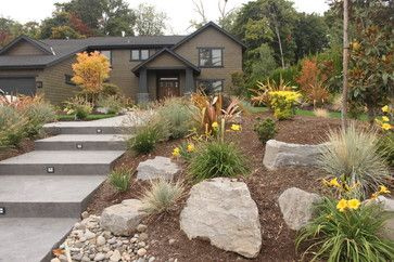 Pacific Northwest Landscape Ideas Northwest Style Front Yard