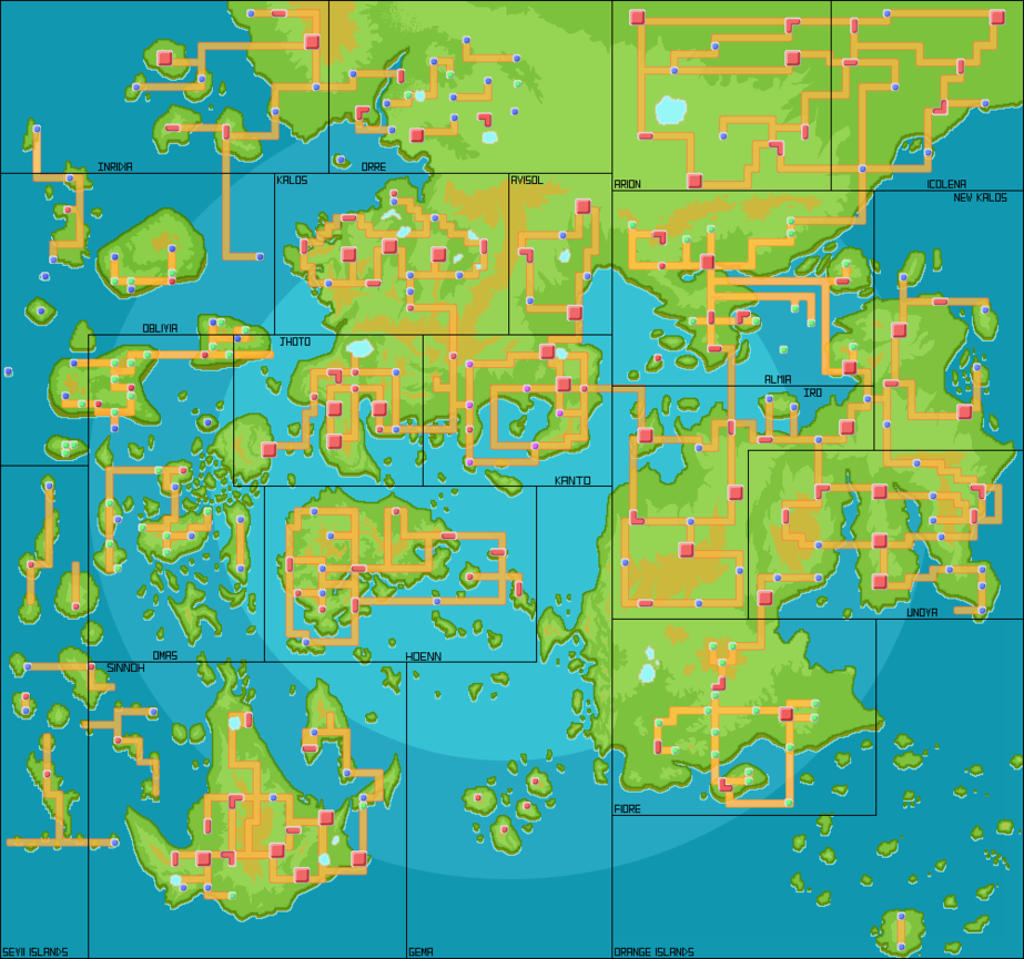 Someone has put together the Pokémon worlds to a big