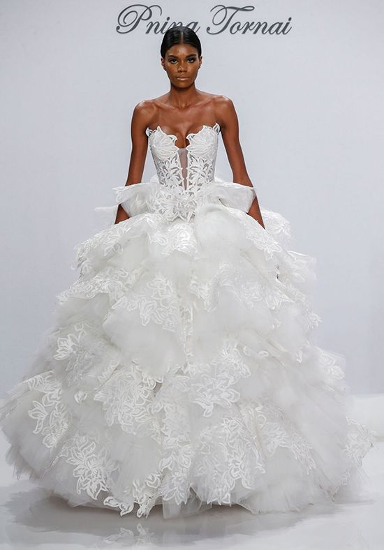 Pnina Tornai for Kleinfeld 4531 Ball Gown Wedding Dress Tulle & Lace ...