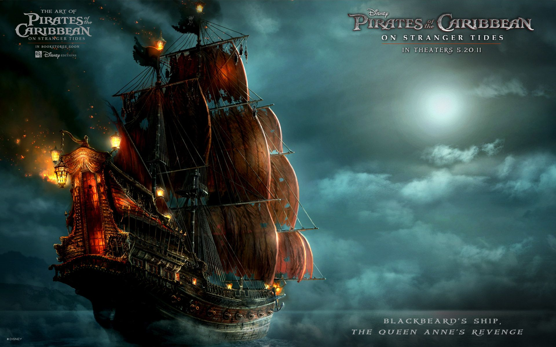Cool Ultra Hd Pirates Of The Caribbean Hd Wallpaper Images Ghost Ship On Stranger Tides Ship Artwork