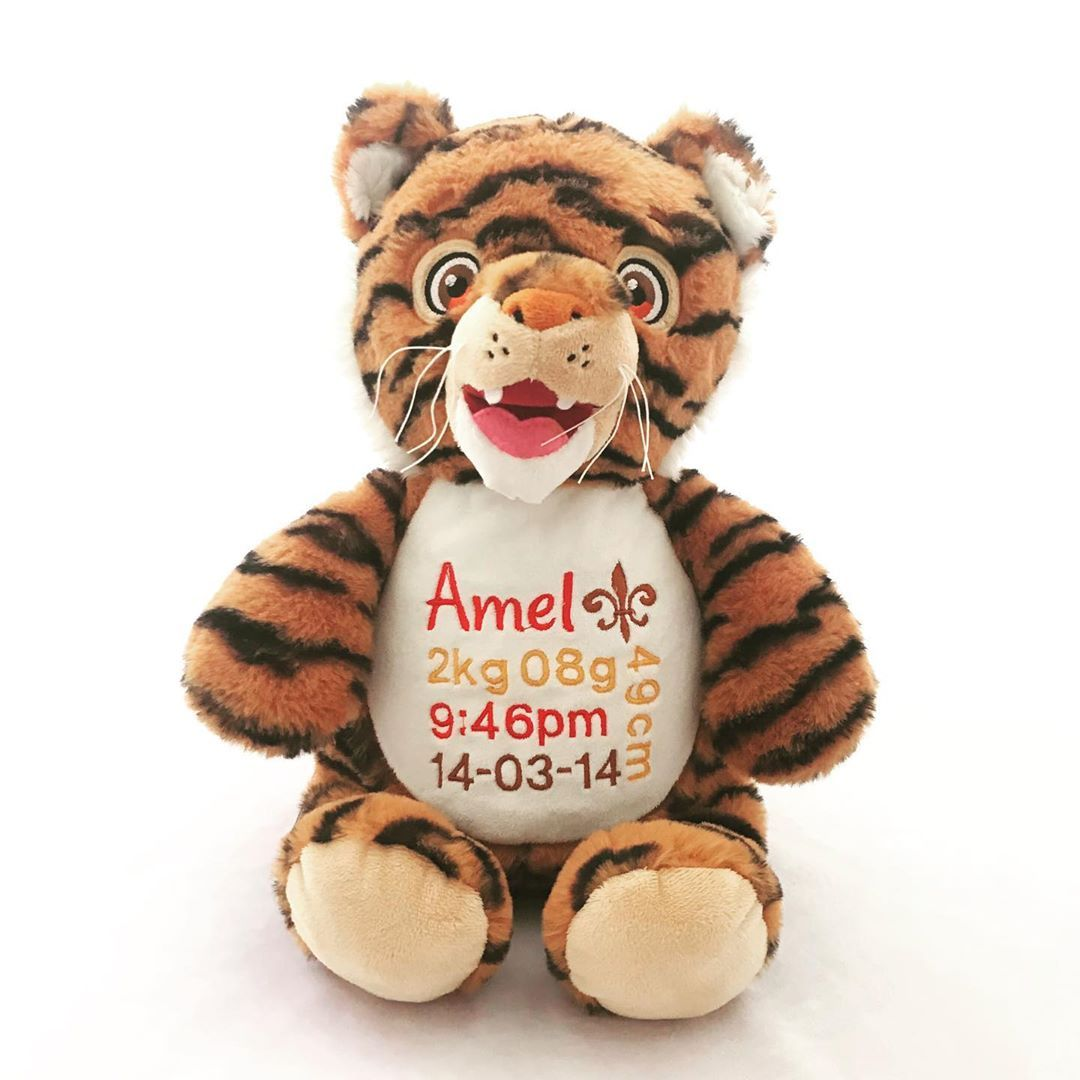 Here is our personalised Tiger for Amel Available for pre order now or choose from our large range of animals and creatures    au