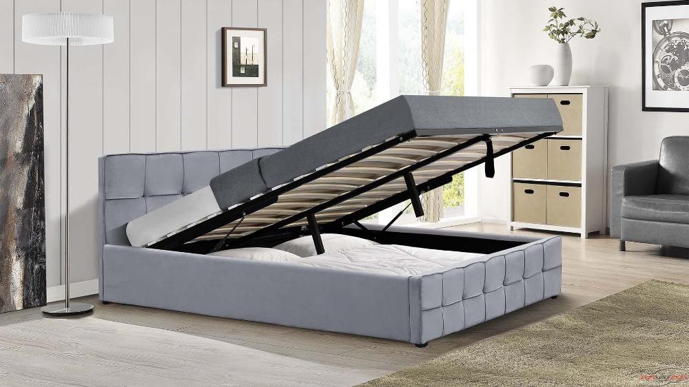 Lozko Tapicerowane Do Sypialni 180x200 Sfg004 Welur Popiel Outdoor Furniture Furniture Home