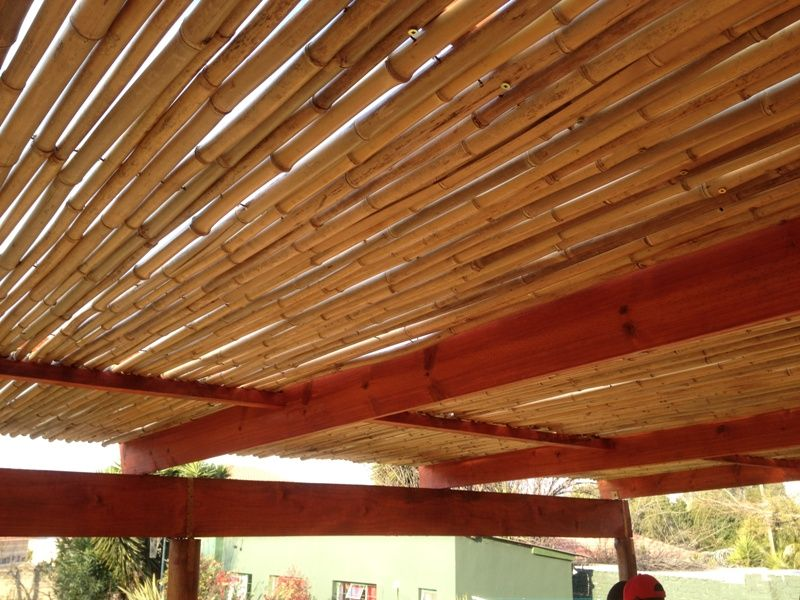Natural Bamboo Is Treated And Lacquer Finished And Kiln Dried To Give That Beautiful Natural Look Bamboo Roof Bamboo Ceiling Bamboo