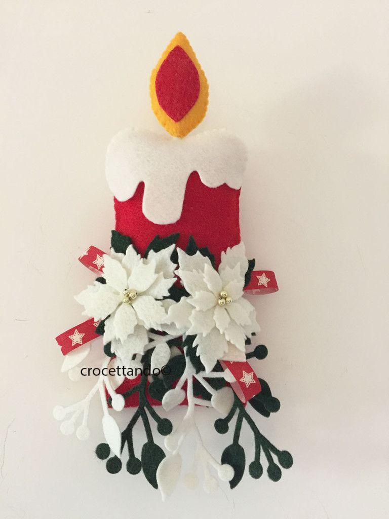 candela appesa | Navideñas | Pinterest | Navidad, Fieltro navidad y ...
