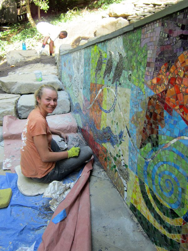 Art Décor: Outdoor Mosaic Installations, Patio And Poolside