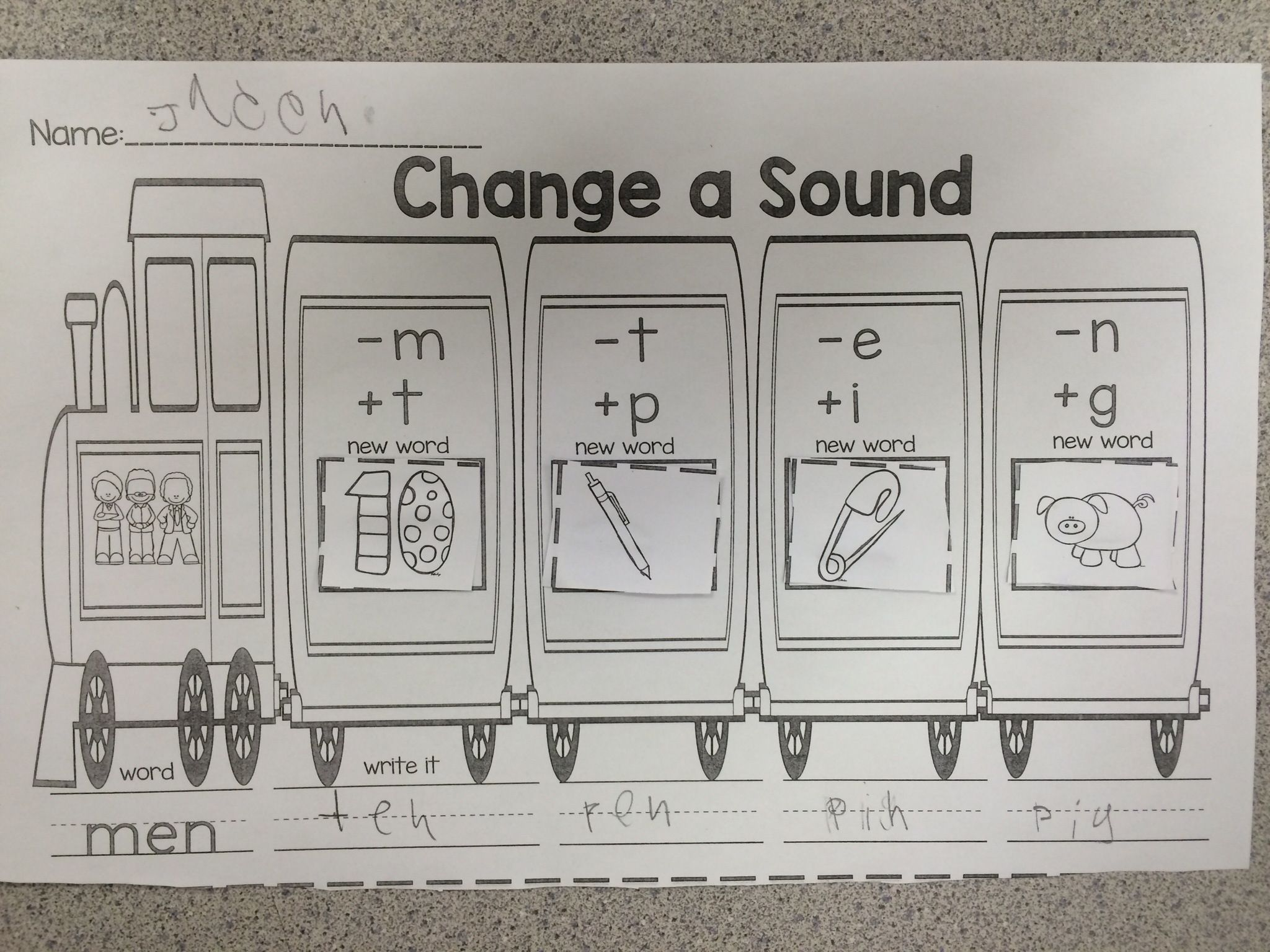 Phoneme Substitution Practice Sheets | First Grade Literacy ...