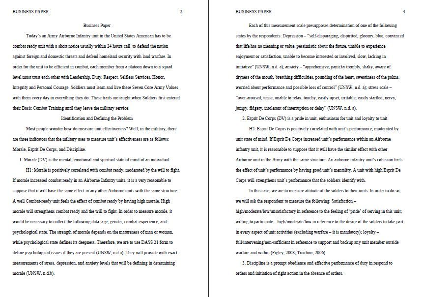 Business research paper service