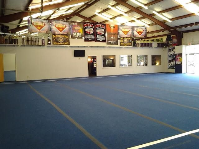 View Of Main Gym From The Radio Station Cheer Extreme Gym Accepting New Clients