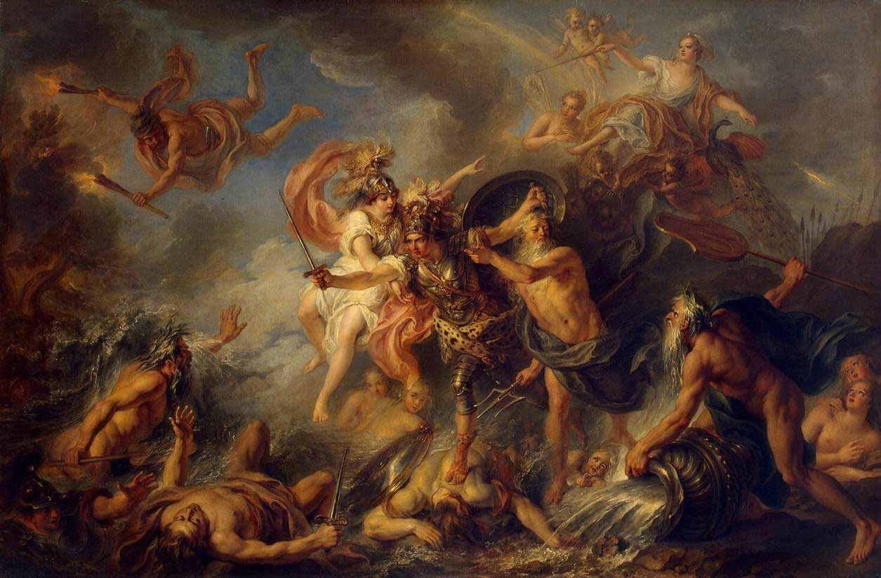 The Fury Of Achilles Painting By Charlesantoine Coypel