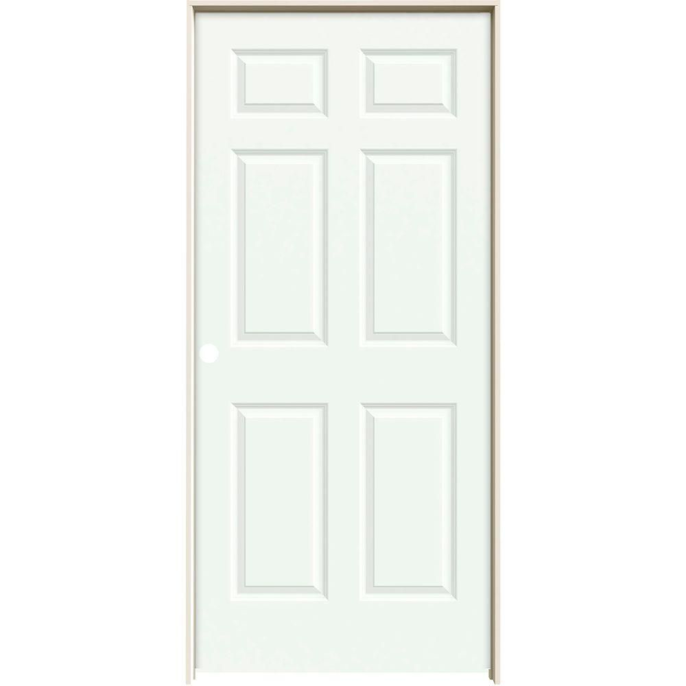 Jeld Wen 18 In X 80 In Molded Smooth 6 Panel Brilliant White