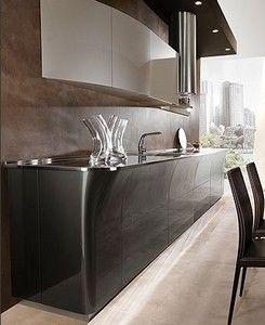 Cucine Moderne - linea retta e curva | Cucine | Pinterest | Kitchens ...