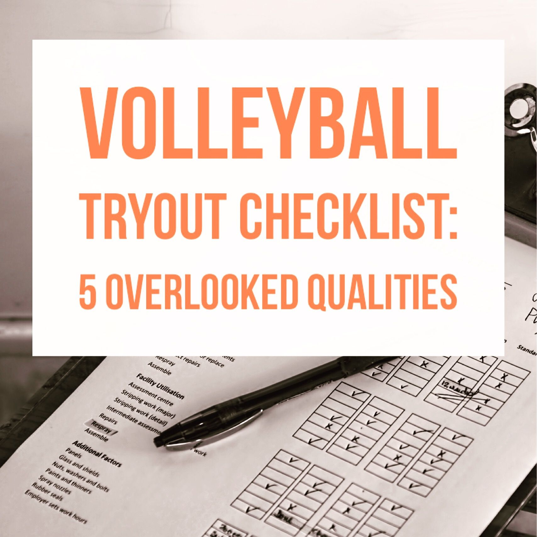 Resources For Volleyball Coaches Volleyball Tryout Checklist 5 Overlooked Qualities Https With Images Volleyball Tryouts Coaching Volleyball Volleyball Practice Plans