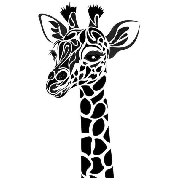 Superb Tribal Giraffe By Dessins Fantastiques ❤ Liked On Polyvore Featuring Home  And Home Decor