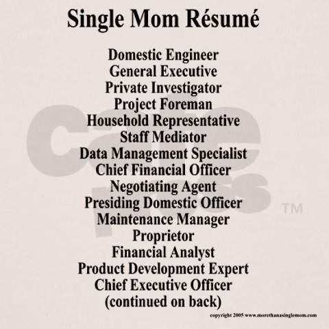 Single mum CV Szinglianyubloghu Pinterest Single mum and