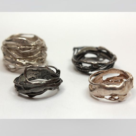 vicky forrester rings wedding rings gold and silver contemporary jewellery bespoke - Contemporary Wedding Rings