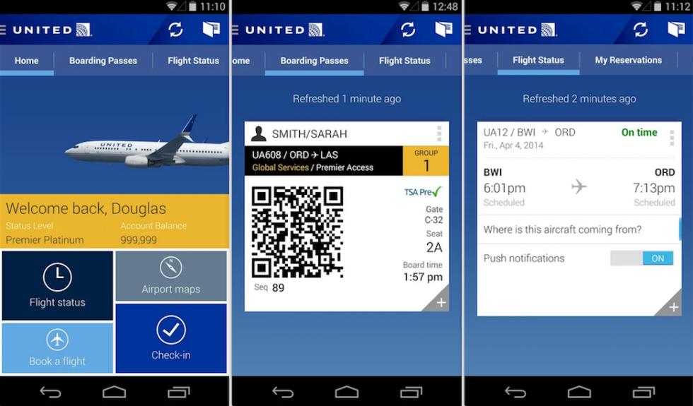 To have everything on hand, download your airline's app