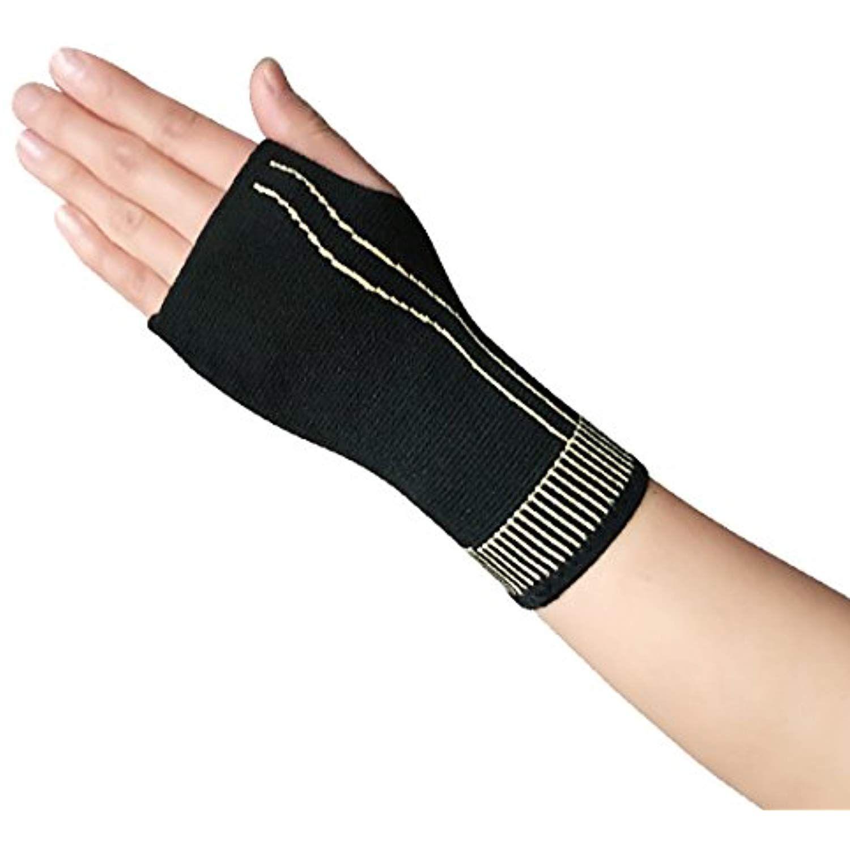 Copper fiber high elastic wrist and palm brace bandage