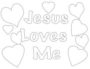Jesus Loves Me Coloring Page  classroom activities  Pinterest