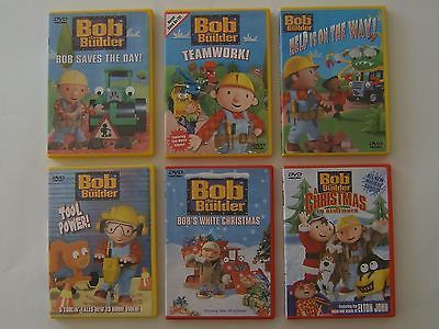 Bob The Builder Dvd Lot Of 6 Saves The Day Teamwork Tool Power White