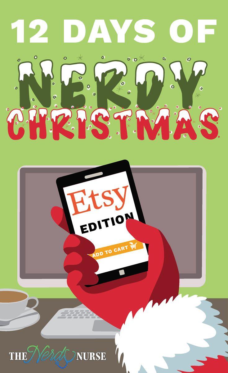 12 Nerdy Days of Christmas: Etsy Edition | Pinterest
