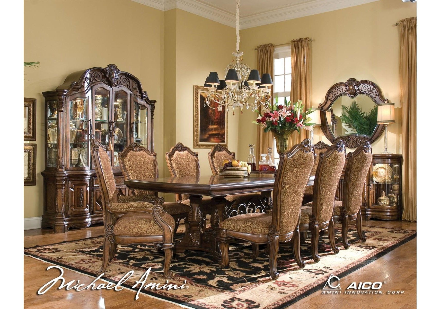 Lacks Windsor Court 10 Pc Dining Roomful Aico Dining Room