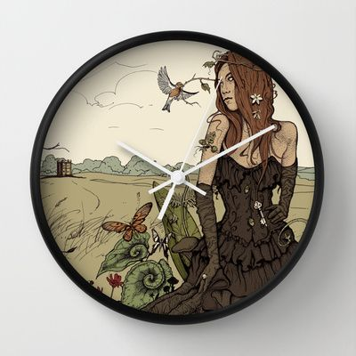 Twists and Turns Wall Clock by Martin Orme - $30.00