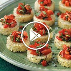 Bruschetta with Tomato Salsa | Grits Bruschetta with Tomato Salsa |