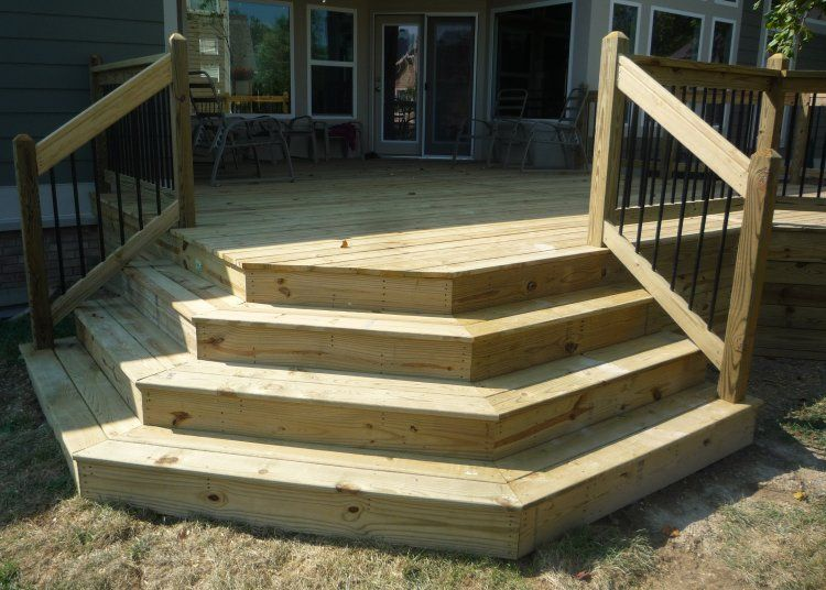 Angled deck stairs google search decks and gardens for How to build box steps for a deck